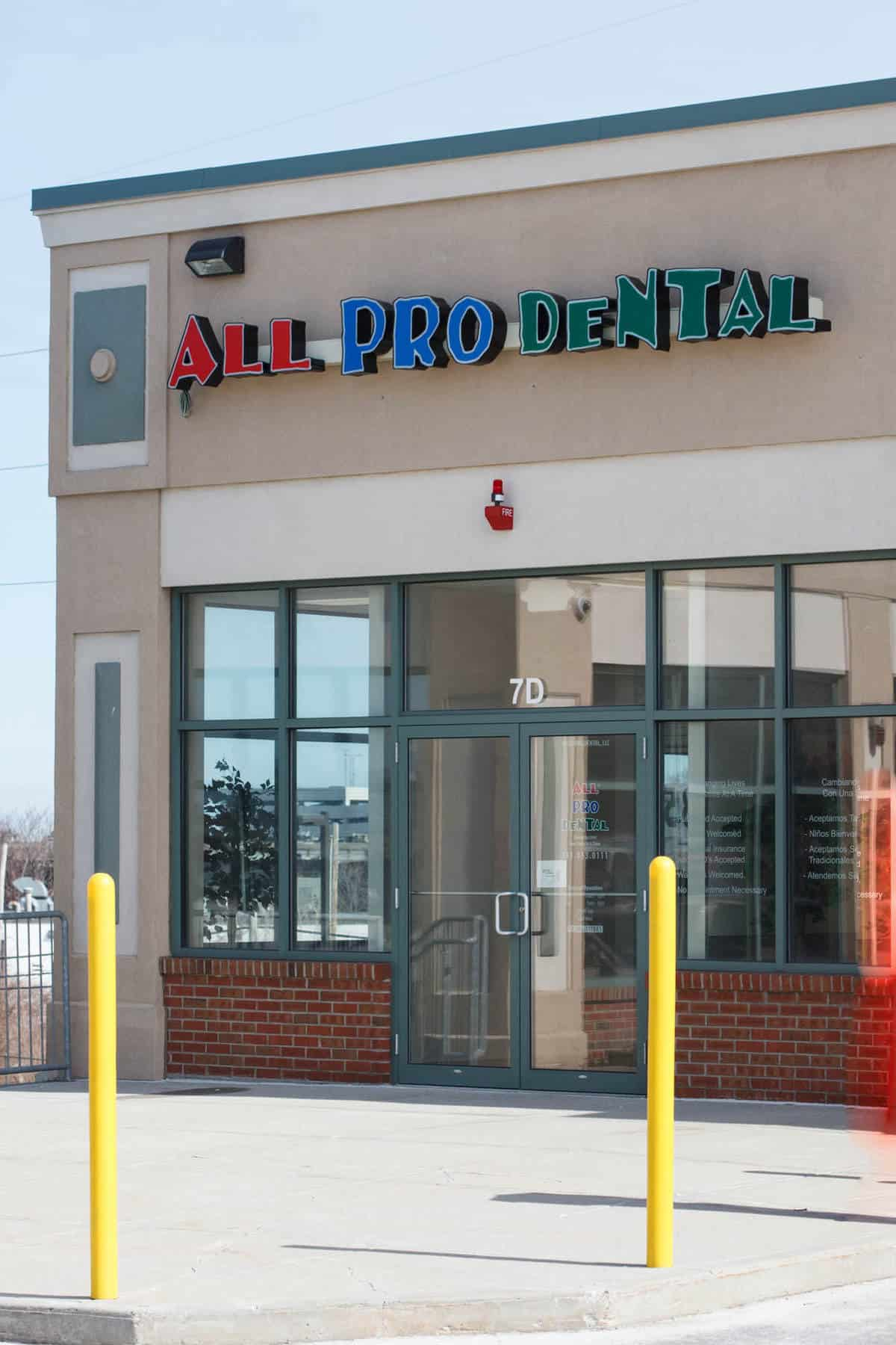 exterior of All Pro Dental office
