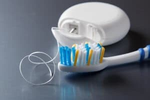 tooth brush and floss