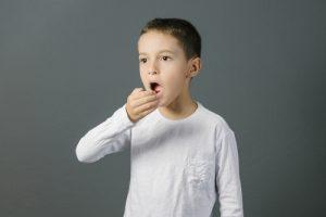 a child testing their breath