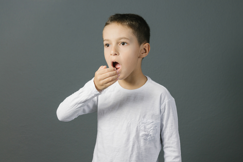 a child testing their breath
