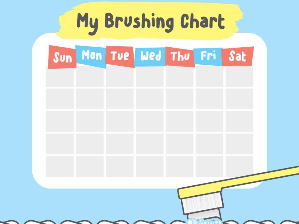 a dental calendar for kids
